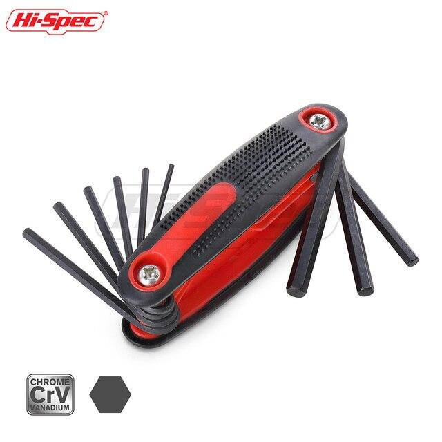 Hi-Spec 9pc Folding Allen Key Set Hexagon Torque Wrench Tool Set Metric Universal Key Spanner Flat Keys Allen Wrench Hex Key Kit