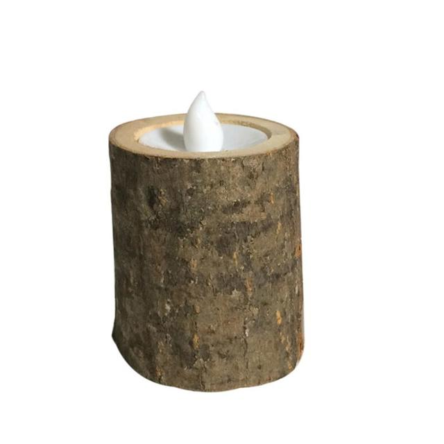 Rustic Wooden LED Candle Tea Light Holder Wedding Candle Holder Candlestick Home Bar Decoration