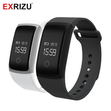EXRIZU A09 Smart Band Smartband Blood Pressure Monitor & Heart Rate Meter Pedometer Wristband Fitness Bracelet for Android iOS