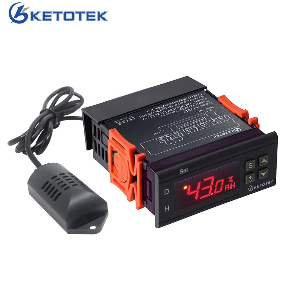 10a 220 V Mini Digital Thermostat Hygromstat Luft Temperatur Controller Messbereich 1%-99% Mit Sensor Messung Und Analyse Instrumente