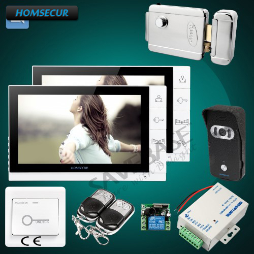 HOMSECUR 9 Wired Video Intercom System with Intercom System+Black Camera for ApartmentHOMSECUR 9 Wired Video Intercom System with Intercom System+Black Camera for Apartment