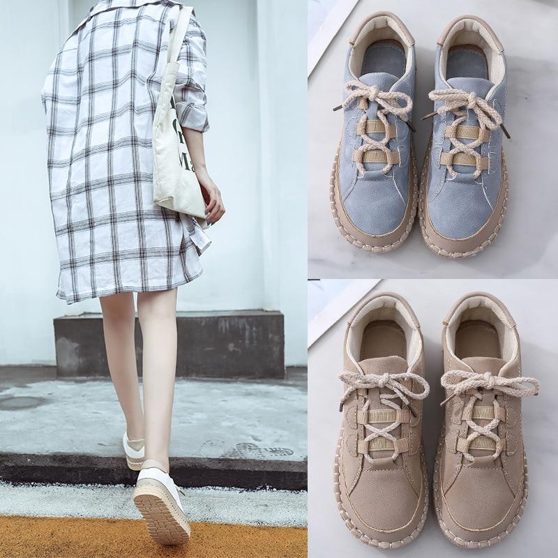 2019 Women Vulcanized Shoes  Fashion Women Casual Shoes Chunky Sneakers For Female