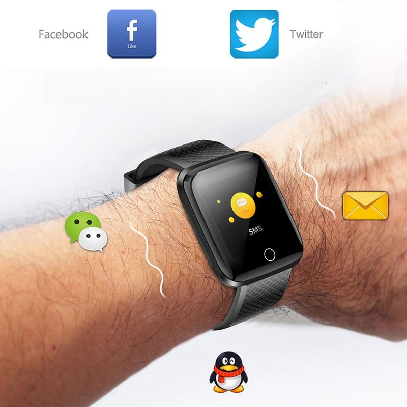 Купить с кэшбэком BANGWEI 2019 New Smart Watch Men Blood Pressure Heart Rate Monitor Fitness tracker Multifunction Sport watch Smart Wristband+Box