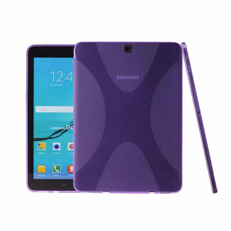 X Line Matte TPU Gel Silicone Beschermende Huid Rubber Case Cover Sleeve Voor Samsung Galaxy Tab S2 9.7 SM-T810 T810 t815 Tablet