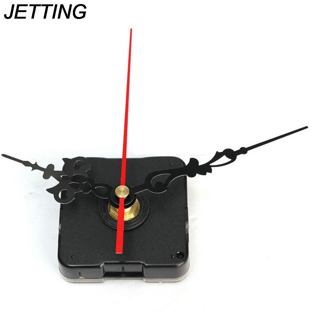 1Set Silent Large Wall Quartz Clock Movement Mechanism Hands Repair Tool Parts Kit DIY Set With Hook Drop Shipping