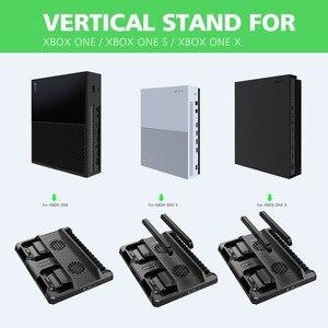 Image 3 - OIVO estación de carga de Doble controlador para Xbox ONE S X, base de carga de juegos, soporte Vertical de enfriamiento, cargador para consola Xbox ONE/S/X