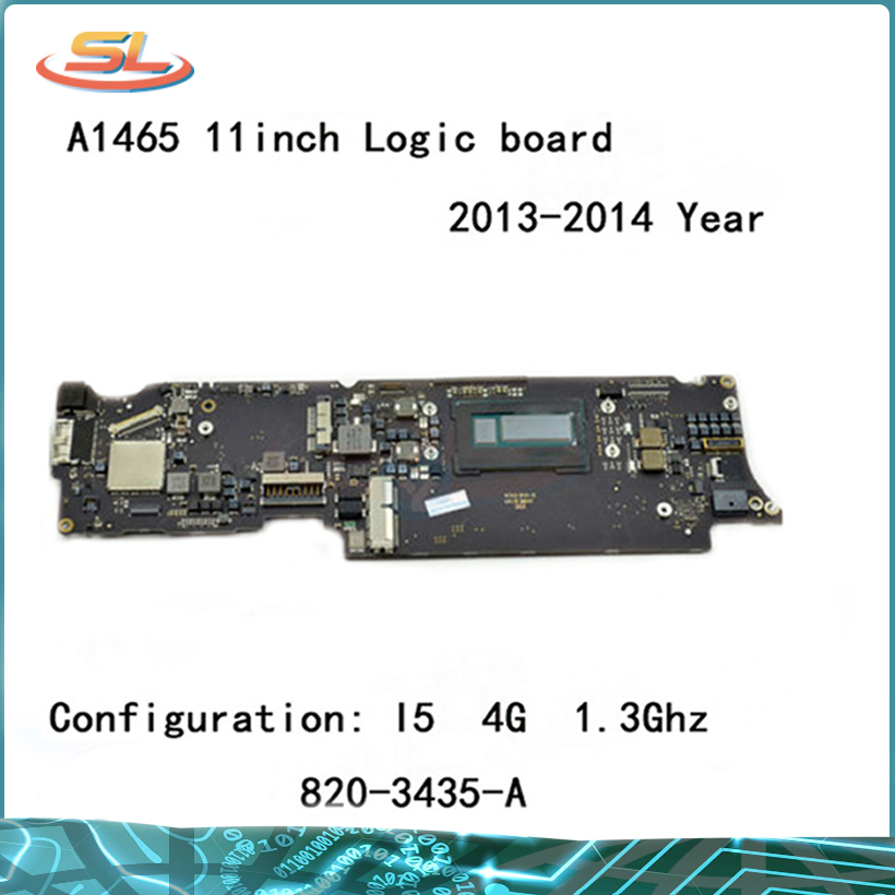 Genuine <font><b>A1465</b></font> logic board i5 1.3GHz 4GB for MacBook Air 11.6'' <font><b>Motherboard</b></font> Compatible 2013 2014year 820-3435-B 820-3435-A image
