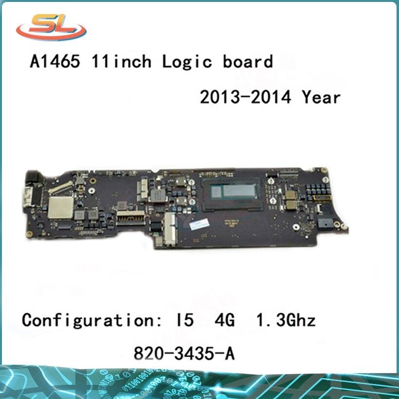 Véritable A1465 carte mère i5 1.3 GHz 4 GB pour MacBook Air 11.6 ''carte mère Compatible 2013 2014 année 820-3435-B 820-3435-A