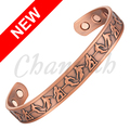 Channah 2017 Unisex Antique Copper Plated Magnetic Pure Copper Bangle 6pcs Magnets Sport Figure Bracelet Free Shipping Charm