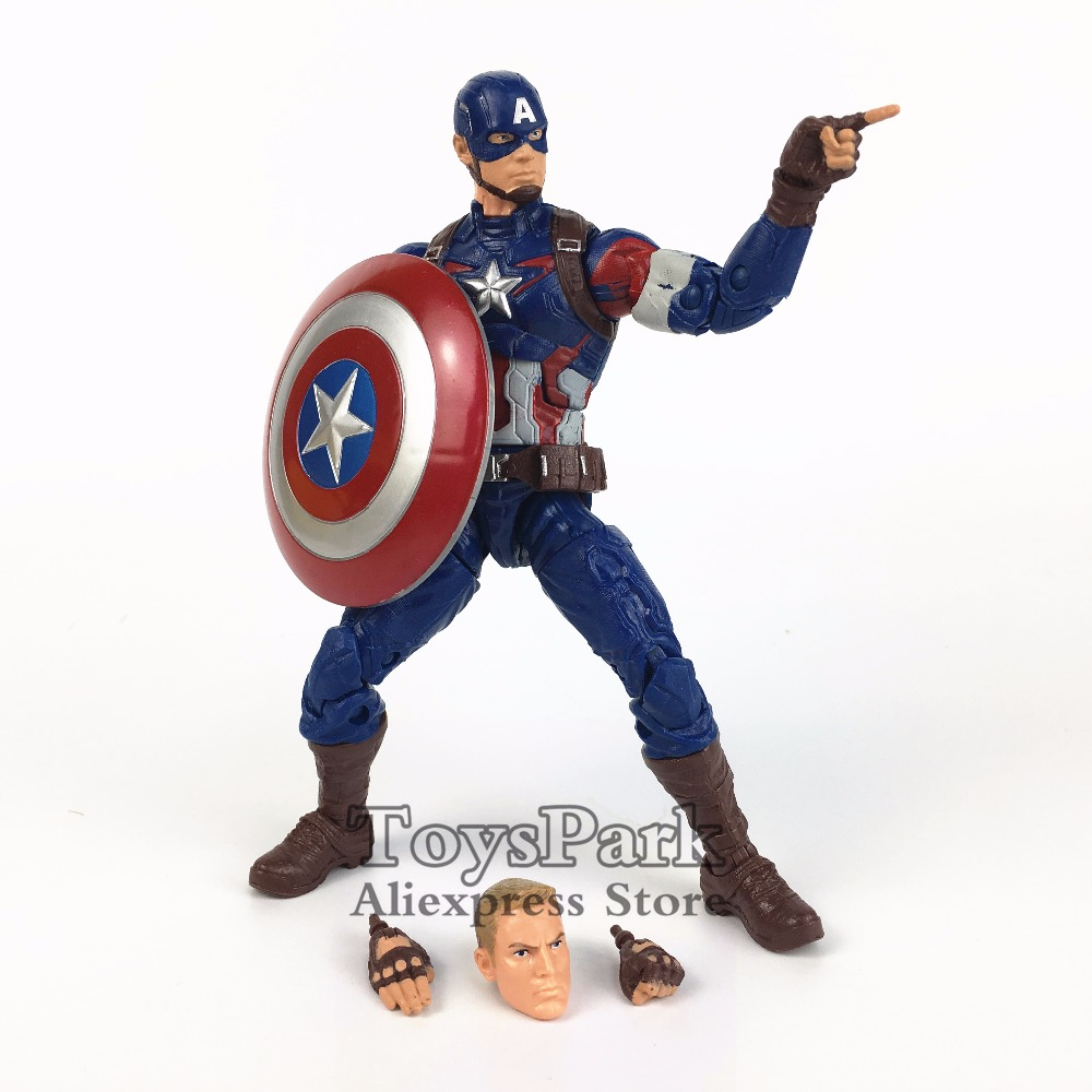 ToysPark Marvel Legends Series 6 Captain America Action Figure From Movie Avengers Age of Ultron Thanos BAF Wave Collectible new marvel the avengers age of ultron captain america cosplay costume steve rogers outfits adult superhero costume