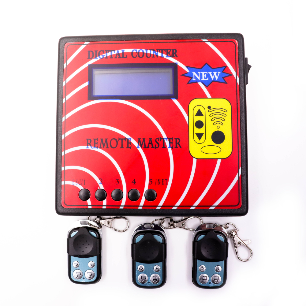 Digital Counter Remote Master Auto Remote Control Copier Frequency Meter Tester+ 3Pcs Fixed Code Remote Control Model A woyo auto car remote control tester tool diagnosis all types of infra red rf radio frequency 10 1000mhz remote control tester