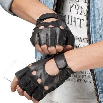 6c5d438e Los hombres guantes sin dedos muñeca mujeres medio dedo guante Unisex  gimnasio Fitness al aire ...
