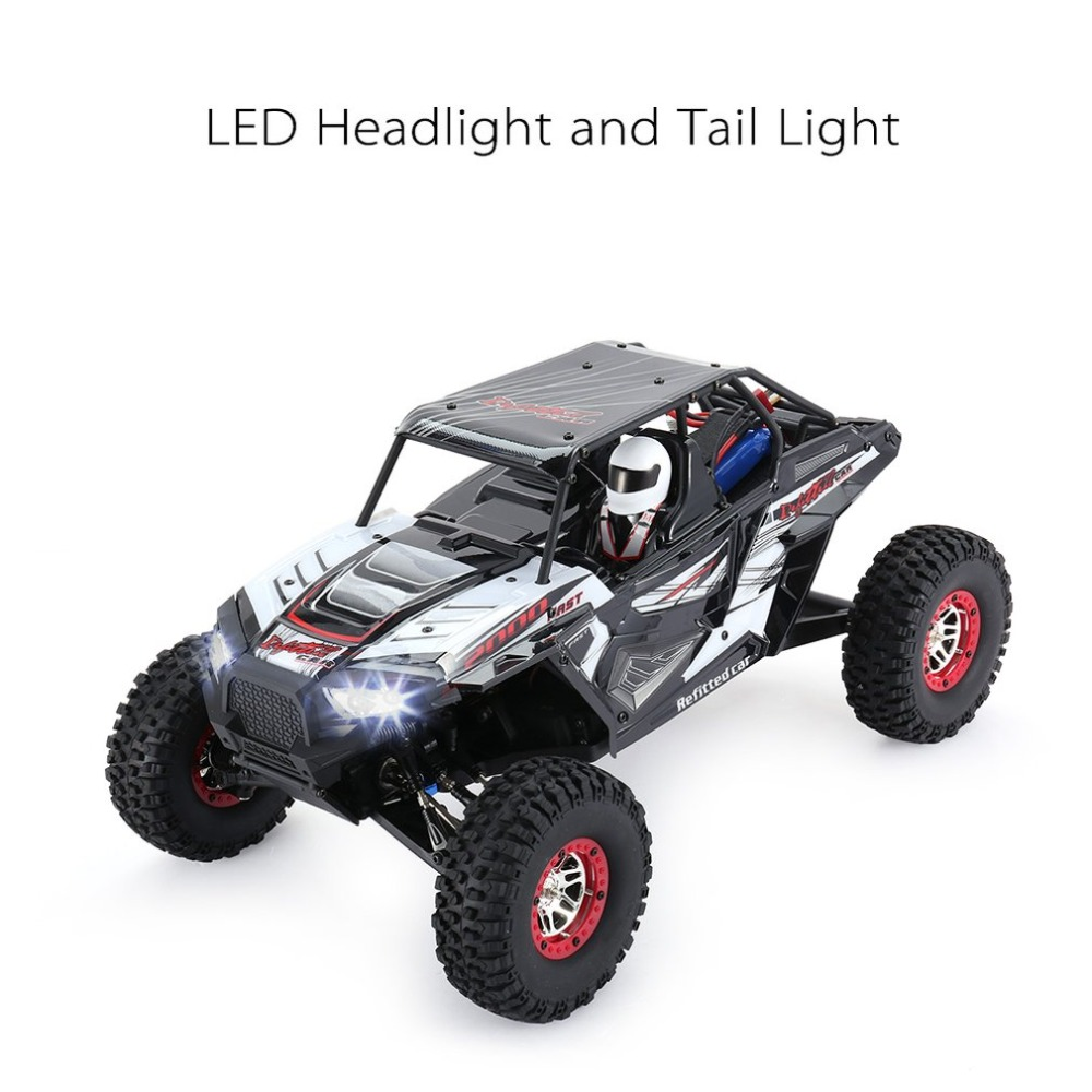 Wltoys 10428-B2 1/10 2.4G 4WD Electric Rock Climbing Crawler RC car Desert Truck Off-Road Buggy Vehicle with LED Light RTR RCcar hongnor ofna x3e rtr 1 8 scale rc dune buggy cars electric off road w tenshock motor free shipping