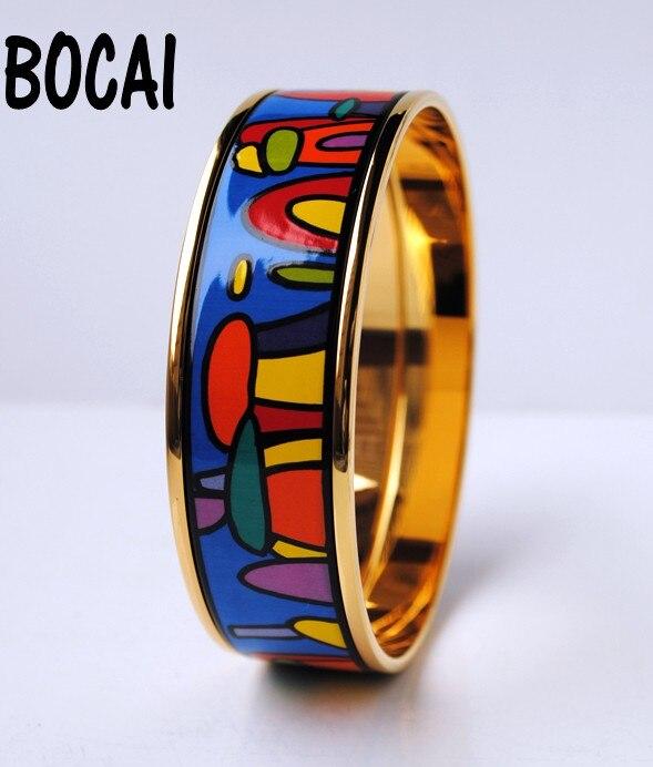 Bracelets en émail cloisonné peints à la main bijoux en émail tendance de style européen et américain