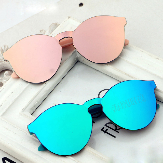 d6047c6e5 Kids sunglasses 2019 NEW Anti-reflective lens UV protection Light glasses  for Baby Boys&girls Cute Oval frame child oculos N754