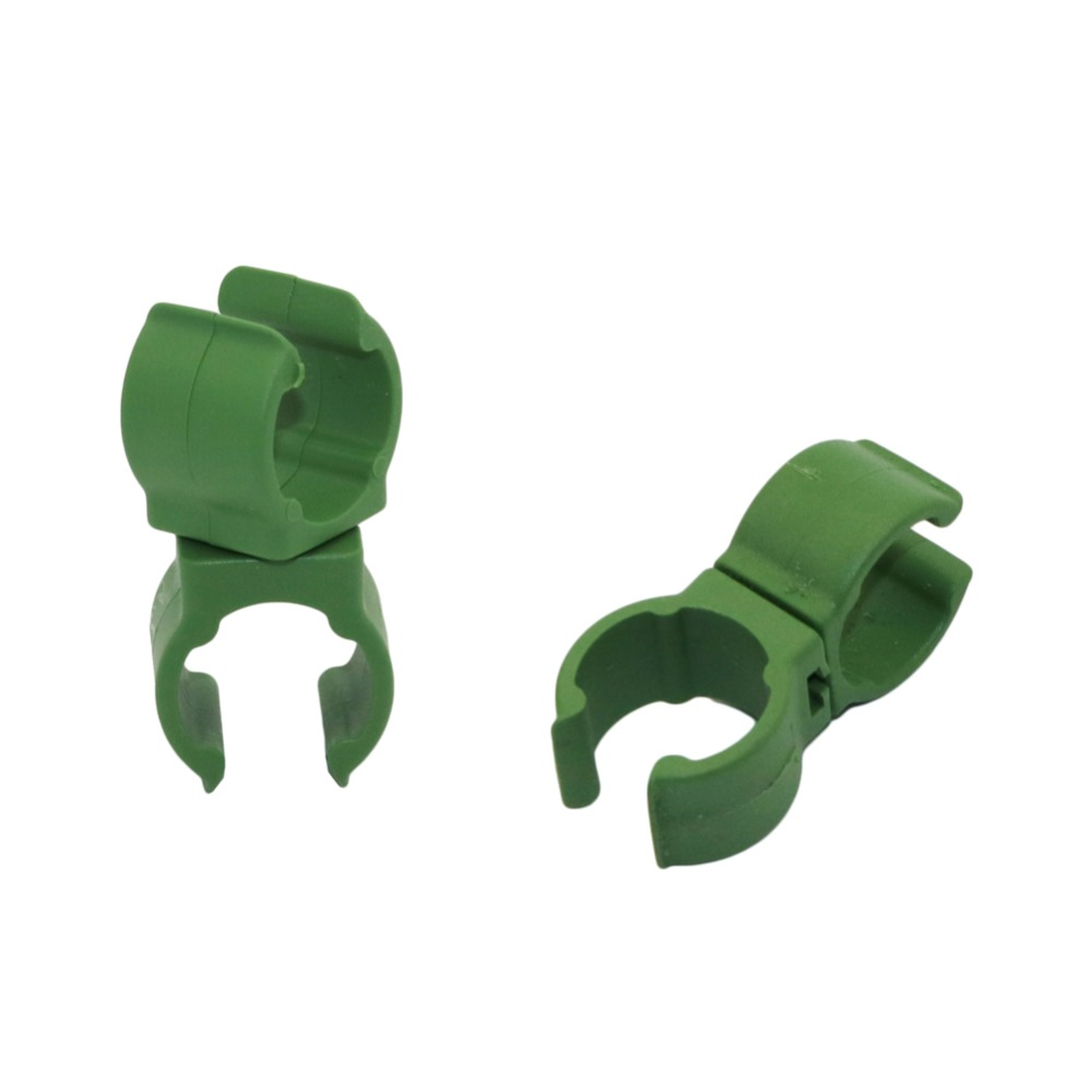Plant Support Plastic Fastener Gardening Pillars Fixed Clamp Adjustable 360 Degree Rotating Connector Clip 10 Pcs