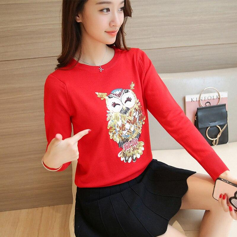 44 nuevas mujeres Coreanas camisa de invierno suéter hecho punto F1473 femenino