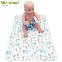 [Mumsbest] Детские пеленки Моющиеся Путешествия подгузник коврик водонепроницаемый новорожденный коврик для переодевания малыша крышка разме...