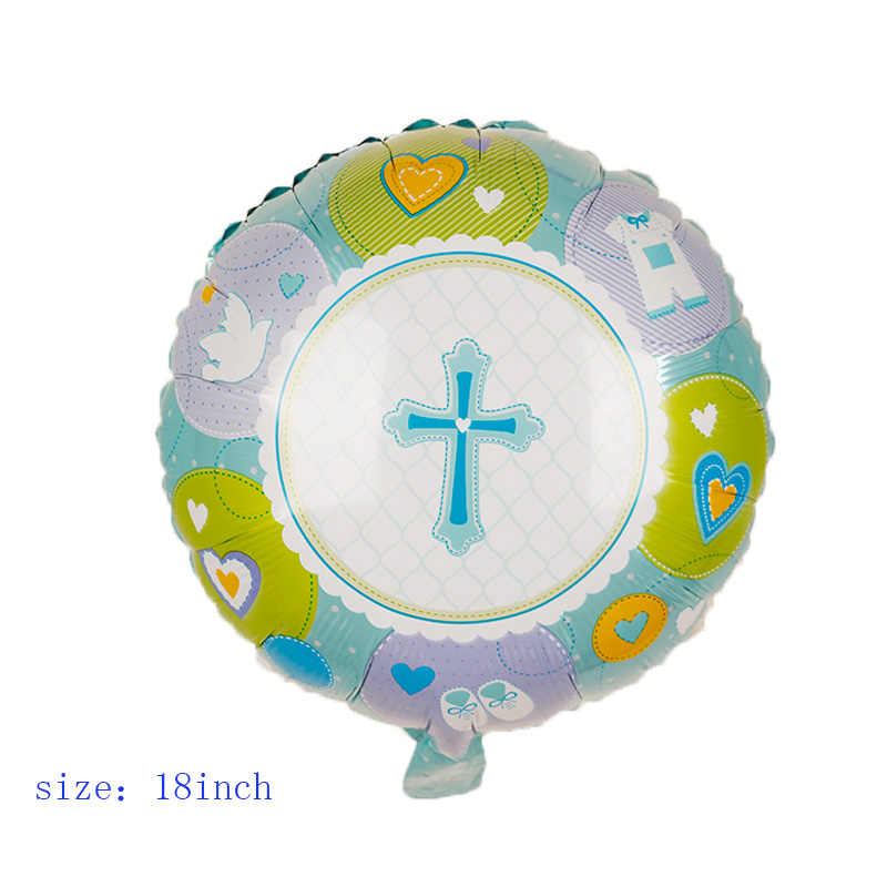 1pc páscoa cruz baptismo favores folha balões chá de fraldas menino menina pentecostes jesus baptizado festa de aniversário decorações globos