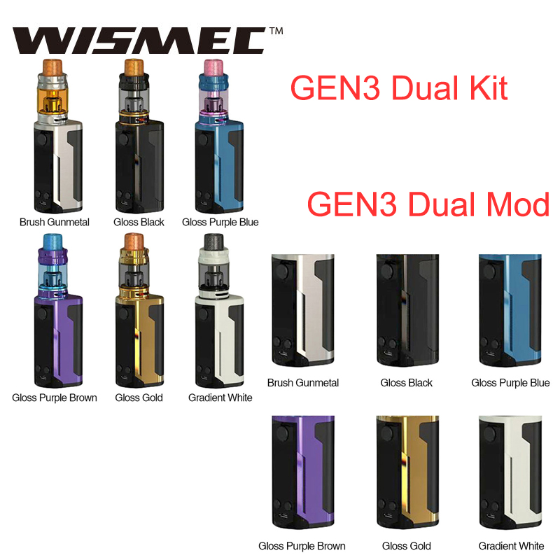 Original WISMEC Reuleaux RX GEN3 double Mod ou Kit 230 W 5.8 ml Gnome King tank fort e-cig vapotage Wismec RX GEN3 double Mod/Kit