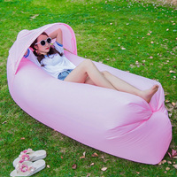 Portable outdoor lazy inflatable sofa Sleeping Air Bag Camping Air Hammock Banana Sofa Beach Bed Lounge Chair Folding 240*70*50