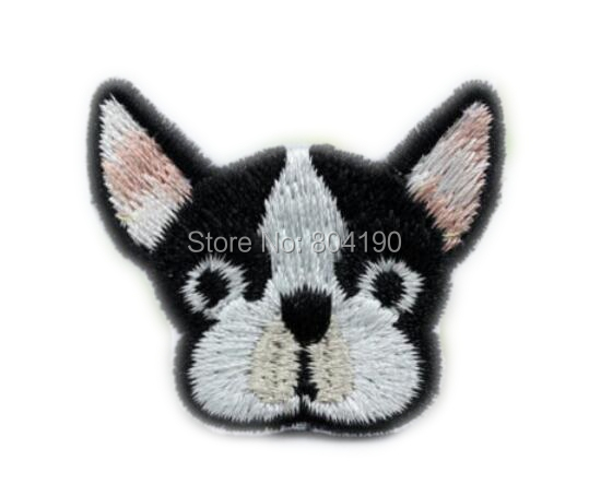 Cute dog french bulldog emoji patch embroidered face applique sew on