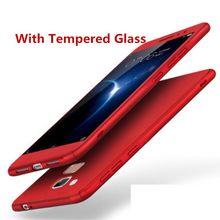 Para Huawei Honor 6X360 Tampa de Proteção de Cobertura de Corpo Inteiro de Volta com Vidro Temperado Para O Companheiro 9 lite Caso Difícil Fosco GR5 2017