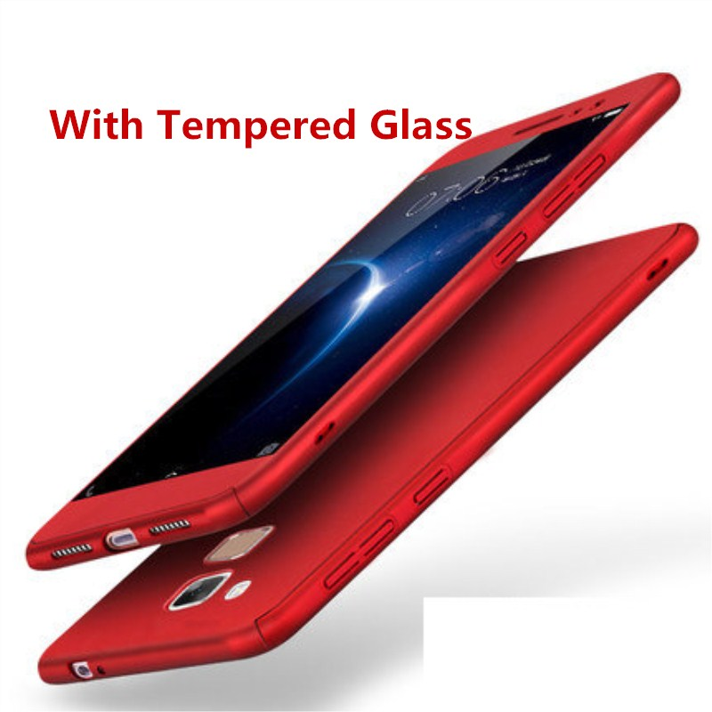 For Huawei <font><b>Honor</b></font> 6X 360 Protective Full Body Coverage Back Cover With Tempered Glass For Mate <font><b>9</b></font> <font><b>lite</b></font> Hard Matte <font><b>Case</b></font> GR5 2017 image