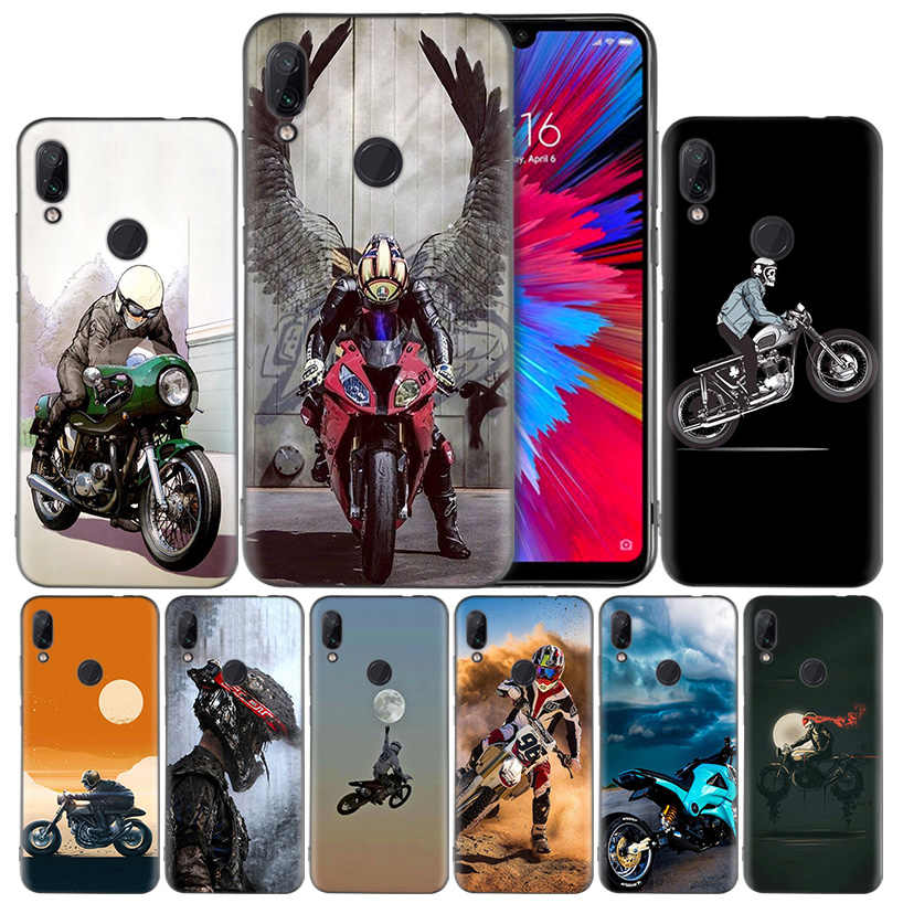 Силиконовый чехол для мотокросса, для Xiaomi mi 9 8 Play A1 A2 Red mi Note 7 6 6A 5 Plus S2 GO Lite Pro Pocophone F1 Coque