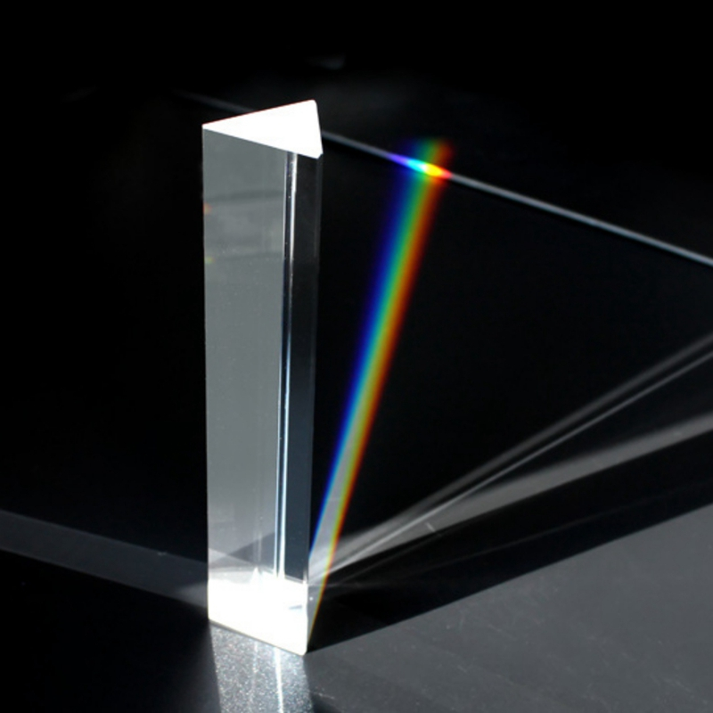 Triangular Prism Teaching Optical Glass Triple Physics Light Spectrum New G08 Drop Ship