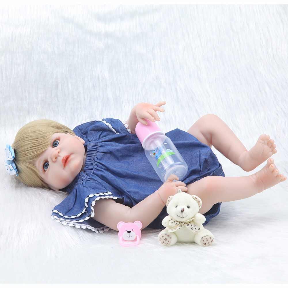 """23 """"куклы для новорожденных девочек, силиконовые куклы для детей, модный подарок для новорожденных, куклы для детей, bonecas"""