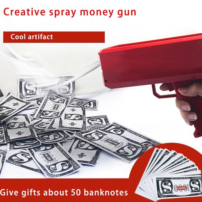 Pistolet dla dzieci penge pistol legetøj skyde penge pengeseddel - Rekreation og sport i open air