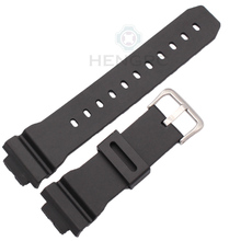 Watchbands 16mm X 25mm Men Black Sports Diving Rubber Silicone Watch Strap Band  For Casio 6900 Series Watch Accessories все цены
