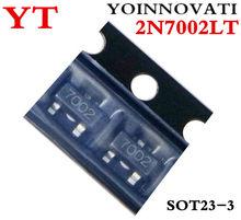 100 pçs/lote 2N7002LT 2N7002 7002 MOSFET Canal N-N-CH SOT23 Melhor qualidade.