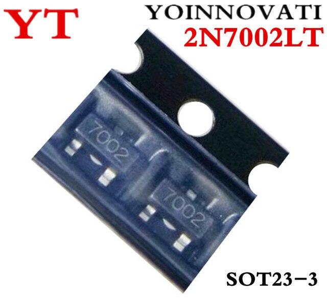 Envío Gratis 100 unids/lote 2N7002LT 2N7002 7002 N-MOSFET canal N-CH SOT23 mejor calidad