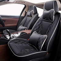 Customized Leather car seat cover For Lada 110 111 112 Kalina Niva Vesta XRAY Granta car accessories car styling car stickers