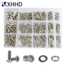 Phillips Flat Head Machine Screw Metric Thread Cross Recessed Countersunk Bolt Set Assortment Kit 304 Stainless Steel M4 M5 M6