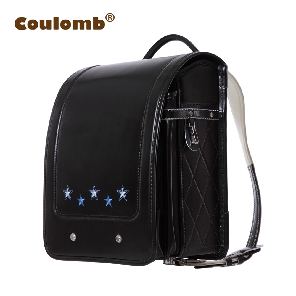 Coulomb Children Orthopedic Backpack For Boy And Girl School Bag Solid Hasp Japanese Leather Baby Book Bags Kids Backpacks 2017