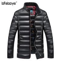 Bfsboys высокое качество белая утка Пух куртка новая зимняя Для мужчин Парка на пуху бренд Гусь пальто Для мужчин; теплые зимние куртки Плюс Раз...