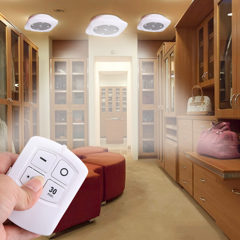 3Pcs Wireless LED Remote Control Battery Under Cabinet ...