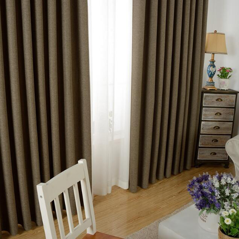 Solid Color Cloth Linen Sheer Cafe Curtains Blinds Short Kitchen Curtains  Decor Cortinas Dormitorio Blackout Drapes