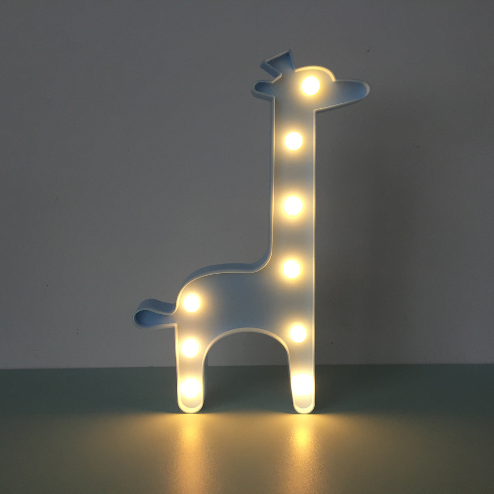 Cute Grow Strong Deer 3D Night Light LED Lamp Kids Room Bedroom Bedside Lamp Party Wedding Home Decor