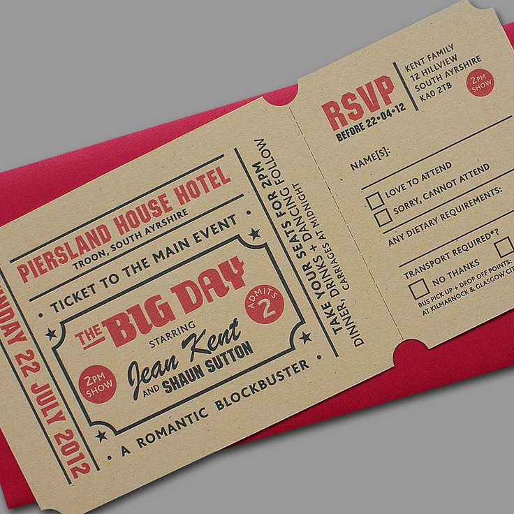 Cut Invitation Card