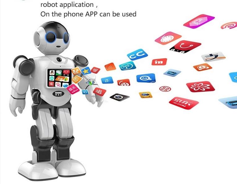 Новый креативный инновационный робот игрушка Поддержка Дома Монитор бесплатное приложение для общения