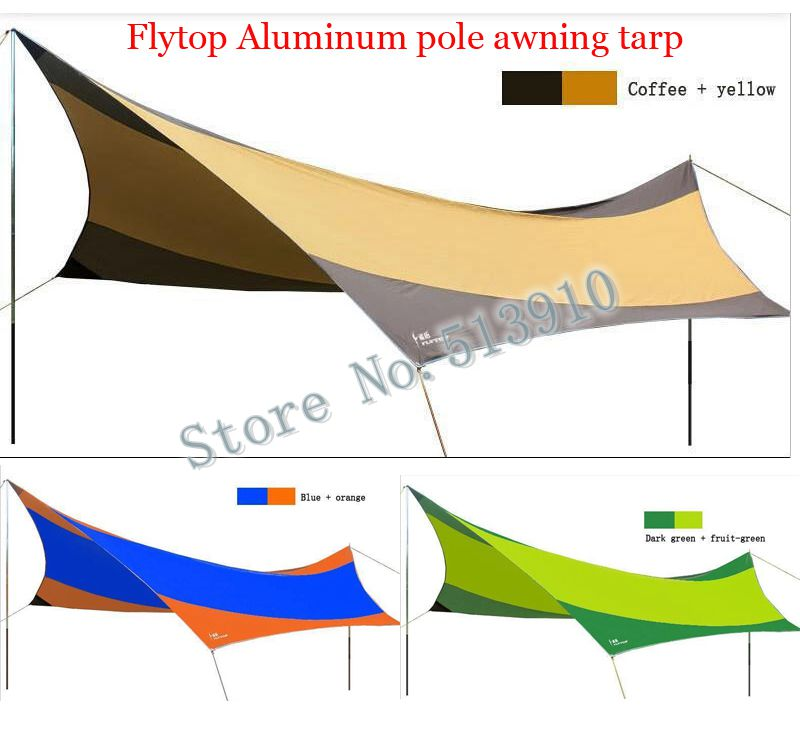 Flytop aluminum alloy pole 3Colors for choose!High quality 550cm*560cm UV beach tent sun shelter camping tent awning tarp free shipping double layer awning beach tent sun shelter gazebot uv protect sunshade camping tent without floor mat