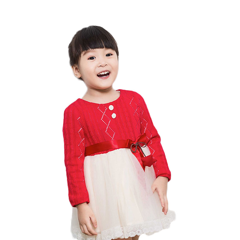New 2017 Princess Dress Popular Kids Wool Dress Fashion Style Spring  Autumn Clothing Beautiful Tulle Tutu Children Girl Dresses 2016summer new children s clothing children dress girl princess dress tutu dress children in europe and america style lace dress
