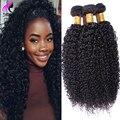 NO1 Brasileira Virgem Do Cabelo Crespo Encaracolado Afro Crespo Encaracolado Virgem cabelo 3 Bundles Cabelo Humano Brasileiro Crespo Encaracolado Tecer Humano cabelo
