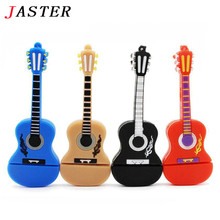 JASTER Retail and wholesale Hot Style 8GB USB Flash Drive PenDrive Cartoon Guitar Shaped Memory stick music Gifts pendrives