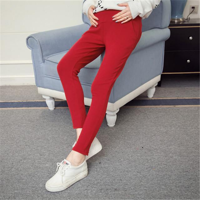 Calças Leggings maternidade Roupas para Mulheres Grávidas Gravidez Cinto de Algodão de Alta Cintura Ajustável Calças para a Primavera & outono B326