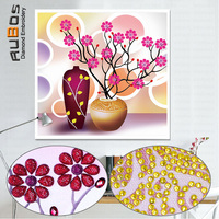 RUBOS Special Shaped Diamond Painting Daisy Vase Flowers 5D DIY Diamond Embroidery Pictures Of Rhinestones 3D